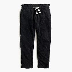 Girls' stripe-lined sweatpant