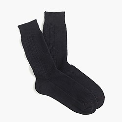 Mr. Gray™ Aran knit socks in black and navy