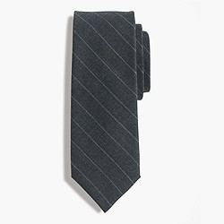 American wool tie in chalk stripe