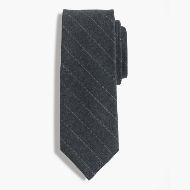 American wool tie in chalk stripe