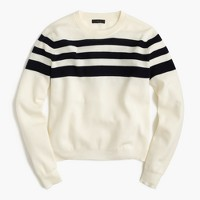 J.Crew for NET-A-PORTER® striped crewneck sweater