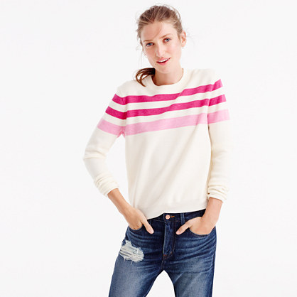 J.Crew for NET-A-PORTER® mixed striped crewneck sweater
