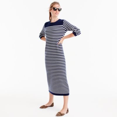 J.Crew for NET-A-PORTER® striped midi dress