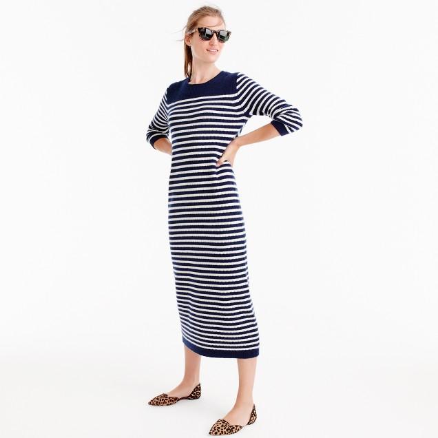 J.Crew for NET-A-PORTER® striped midi dress
