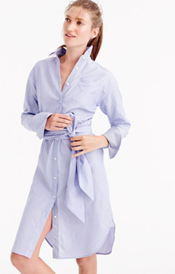 J.Crew for NET-A-PORTER® shirtdress in Thomas Mason® cotton