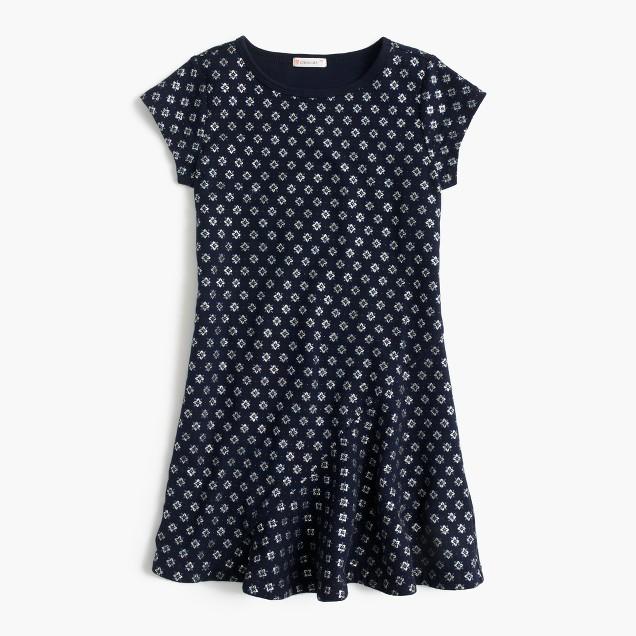 Girls' glitter ruffle-hem dress