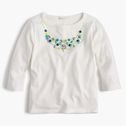 Girls' neon necklace T-shirt