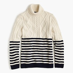 Saint James® Amos nautical turtleneck sweater