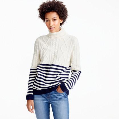 Saint James® Amos nautical turtleneck sweater