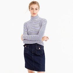 Tissue turtleneck T-shirt in stripe