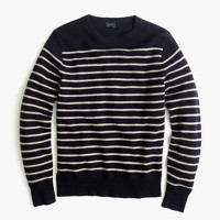 Lambswool crewneck sweater in stripe