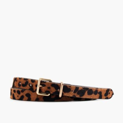 Leopard Printed Calf Hair Belt Women S Belts J Crew