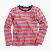 Boys' long-sleeve striped ringer T-shirt