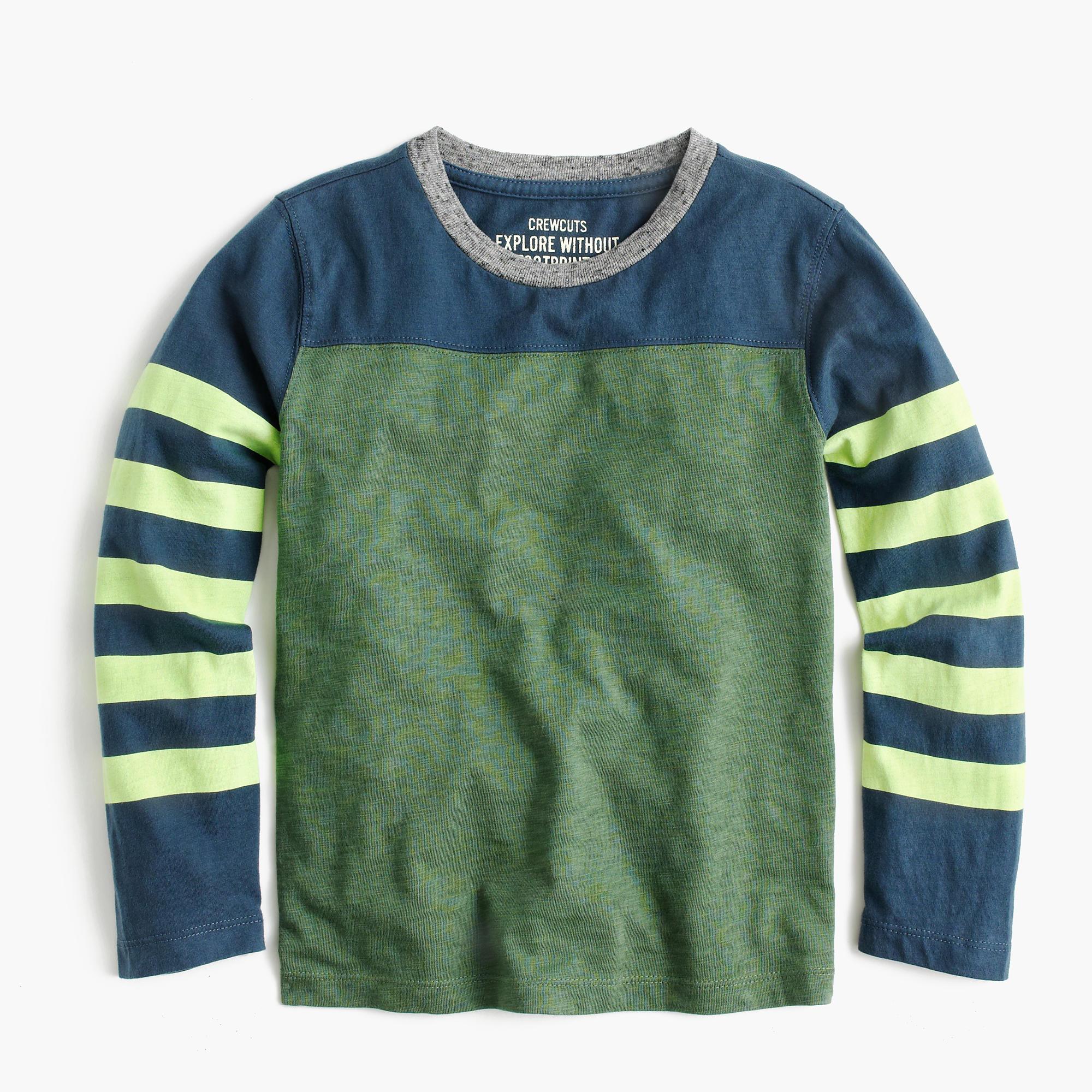 Boys 39 Long Sleeve Stripe Sleeve T Shirt Boys 39 Novelty
