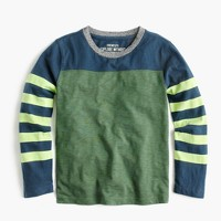 Boys' long-sleeve stripe-sleeve T-shirt