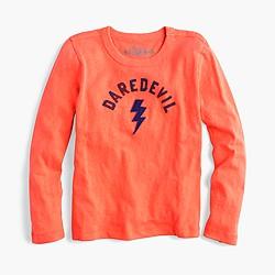 "Boys' long-sleeve ""daredevil"" T-shirt"