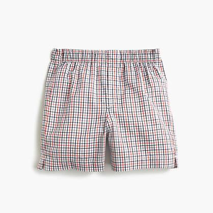 Boys' multi-plaid boxers
