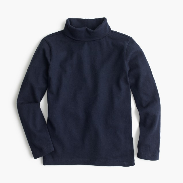 Boys' cotton jersey turtleneck