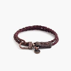 Caputo & Co.™ hand-braided double-wrap bracelet