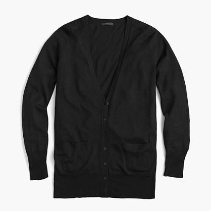 Merino wool long cardigan