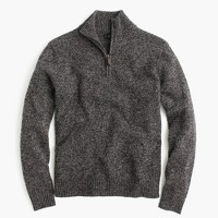 Tall marled lambswool half-zip sweater
