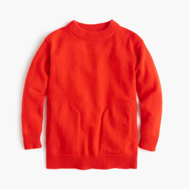 Girls' Italian cashmere tunic