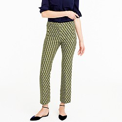 Collection cropped wool pant in Ratti® geometric tile print
