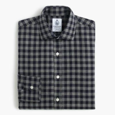 Cordings™ for J.Crew shirt in dark royal check