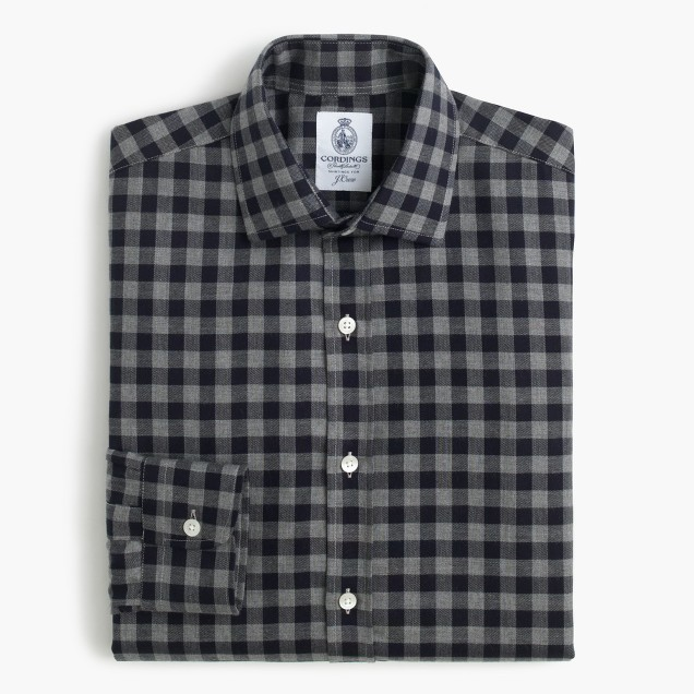 Cordings™ for J.Crew shirt in dark royal check