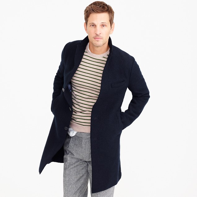 Harris Wharf London™ topcoat in boiled wool