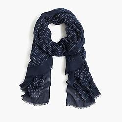 Lightweight polka-dot scarf