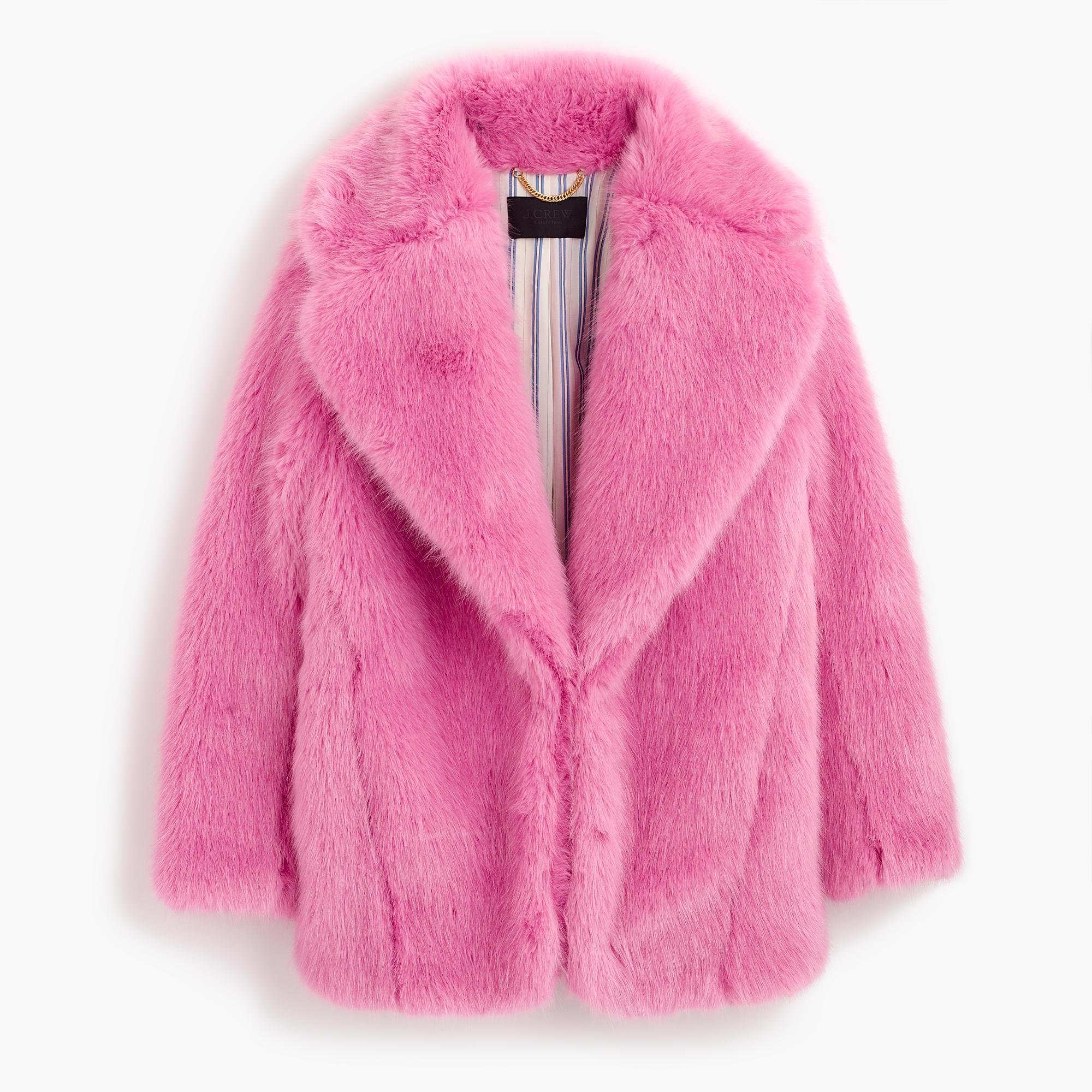 Collection Faux-Fur Jacket : Women's Coats & Jackets | J.Crew