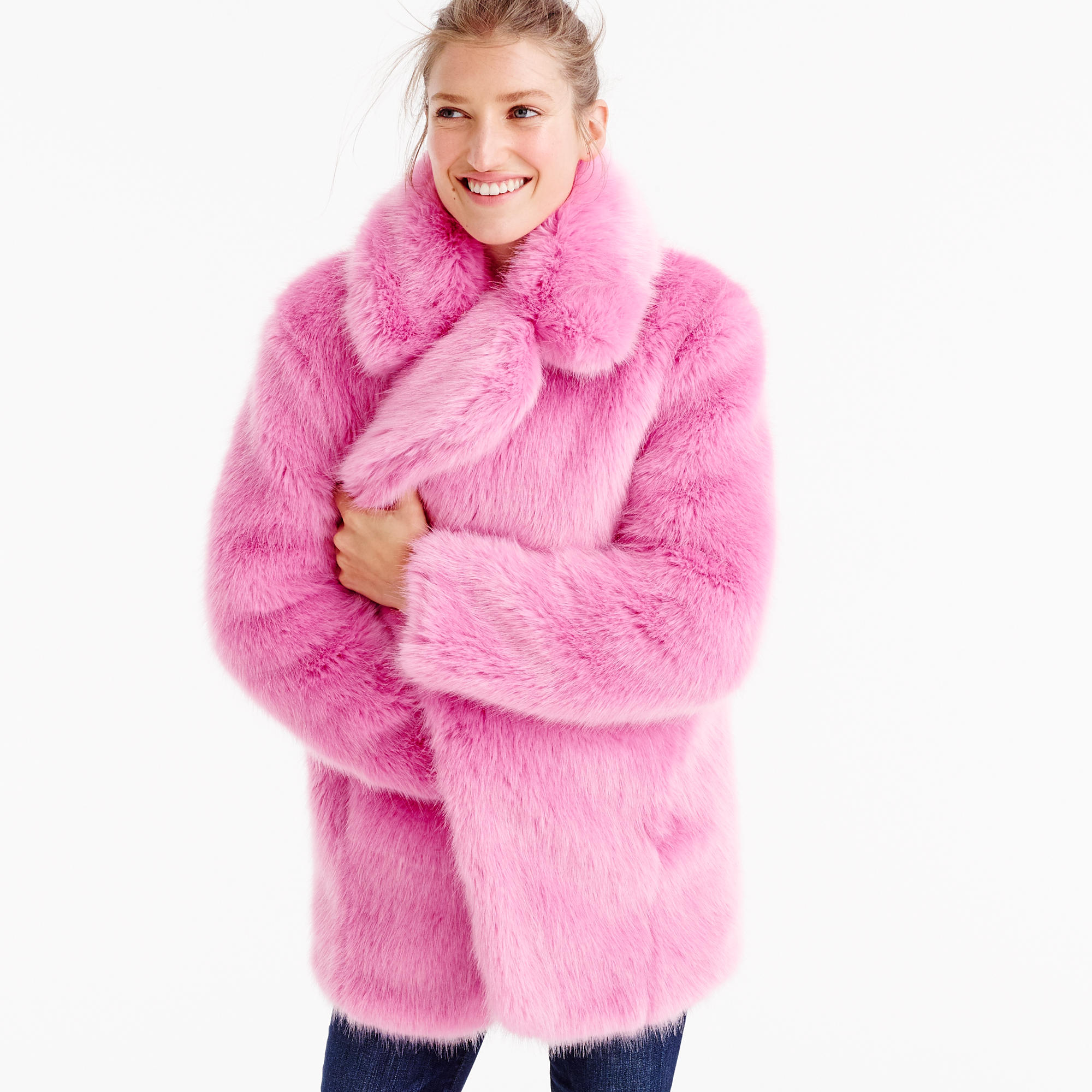 Collection Faux-Fur Jacket : Women's Coats & Jackets | J.Crew