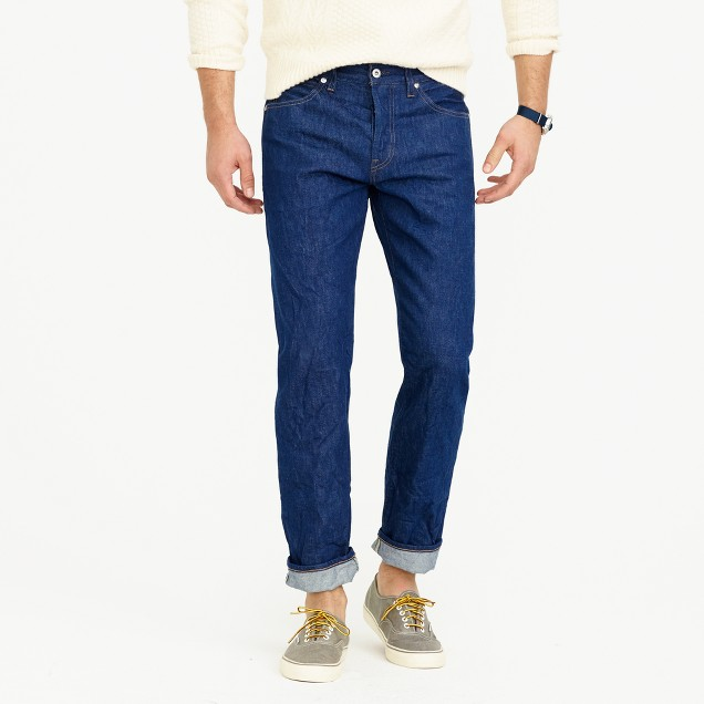 Wallace & Barnes straight-leg jean in American indigo denim
