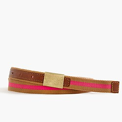 Fabric plaque belt