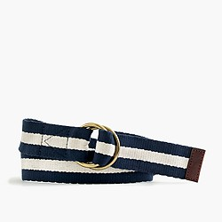 Striped navy belt