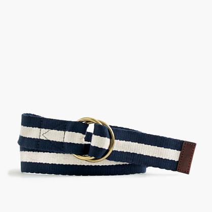 Striped navy belt