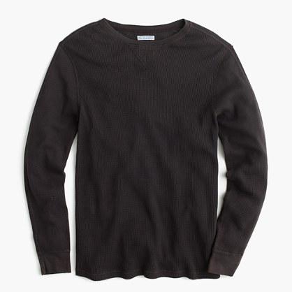 Wallace & Barnes thermal crewneck T-shirt