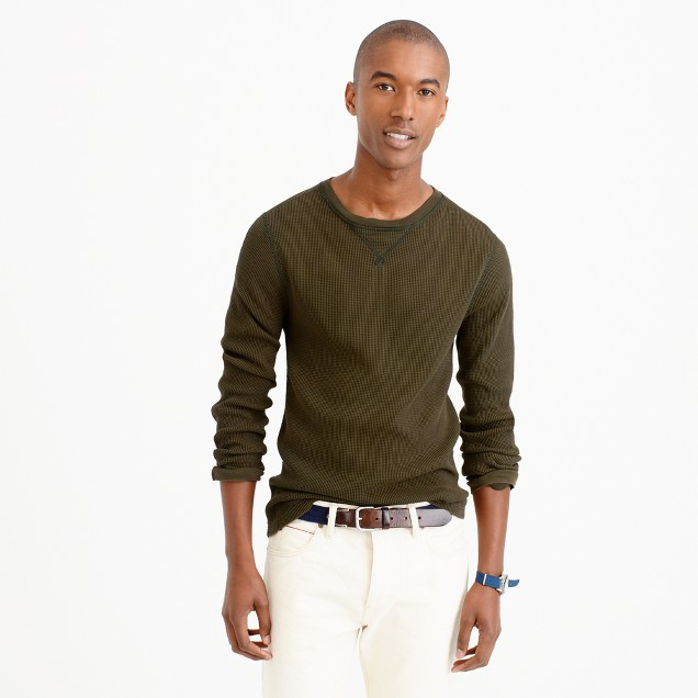 Wallace & Barnes thermal crewneck T-shirt