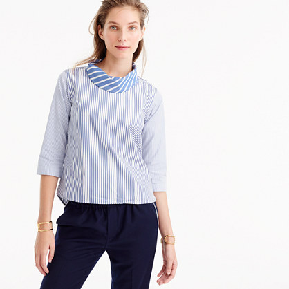 Pre-order Collection Thomas Mason® for J.Crew scarf-neck top