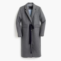Collection Olivia topcoat with grosgrain ribbon