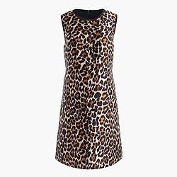 A-line shift dress in leopard print