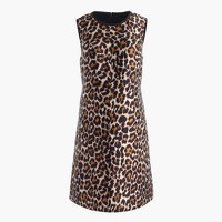 Tall A-line shift dress in leopard print