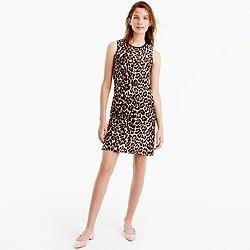 Petite A-line shift dress in leopard print