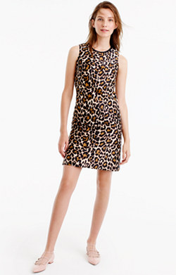 Shift dress in leopard print