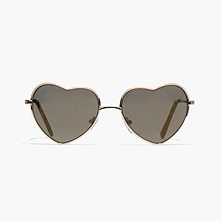 Girls' heart-shaped sunnies