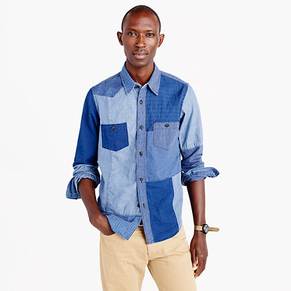 FDMTL™ indigo boro shirt