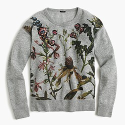Botanical sweatshirt with floral patches