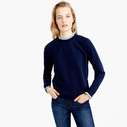 Sweatshirt with ruffle trim