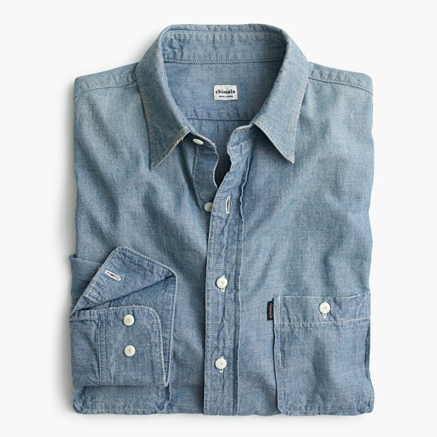 Chimala® indigo chambray workshirt